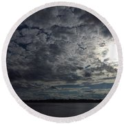 Skyscape Round Beach Towel