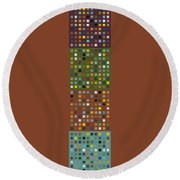Skyscraper Abstract Ll Round Beach Towel