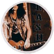 Slash, Guns'n'roses Round Beach Towel