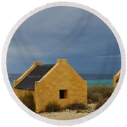 Slave Huts Round Beach Towel