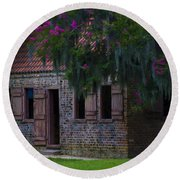 Slave Quarters Round Beach Towel
