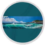 Slea Head Co Kerry Dingle Round Beach Towel