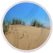 Sleeping Bear Sand Dunes Round Beach Towel