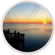 Sleeping Bear Sunset 02 Round Beach Towel