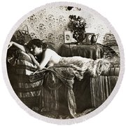 Sleeping Beauty, C1900 Round Beach Towel