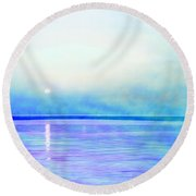 Sleeping Child Round Beach Towel