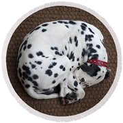 Sleeping Dalmatian II Round Beach Towel