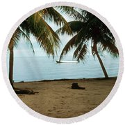 Sleeping Dogs Round Beach Towel