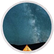 Sleeping Under The Stars Round Beach Towel