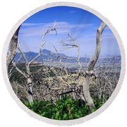 Sleeping Ute Mountain - From Mesa Verde National Park Round Beach Towel