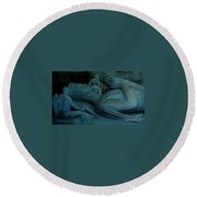 Sleeping With Angels Round Beach Towel