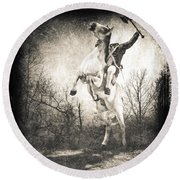 Sleepy Hollow Headless Horseman Round Beach Towel