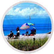 Slice Of Venice Beach Round Beach Towel