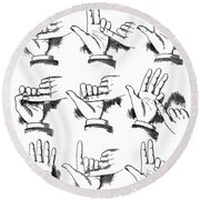 Slight Of Hand Round Beach Towel