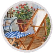 Sling Back Chair Round Beach Towel