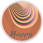 Slinky - Happy Birthday Card 2 Round Beach Towel