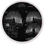 Slinky Patent Design  Round Beach Towel