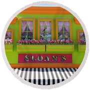 Sloans Round Beach Towel