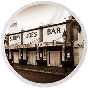 Sloppy Joe's - Key West Florida Round Beach Towel by Bill Cannon