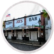Sloppy Joe's Bar Key West Round Beach Towel