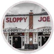 Sloppy Joe's Saloon- Key West Round Beach Towel