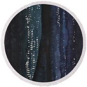 Slot Canyon In Moonlight Original Painting Round Beach Towel