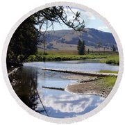 Slough Creek 1 Round Beach Towel