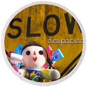 Slow Despacito Round Beach Towel