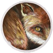 Sly Fox Round Beach Towel