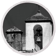 Small Bell Tower Round Beach Towel