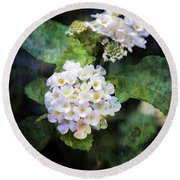 Small Blossoms 4948 Idp_2 Round Beach Towel