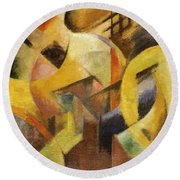 Small Composition I 1913 Round Beach Towel
