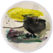 Small Landscape16 Round Beach Towel