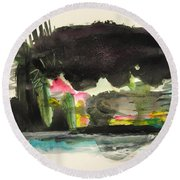 Small Landscape34 Round Beach Towel