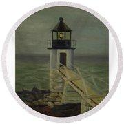 Small Lighthouse Round Beach Towel