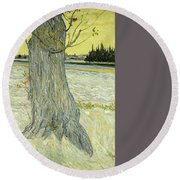 Small Pear Tree In Blossom Arles, April 1888 Vincent Van Gogh 1853  1890 Round Beach Towel