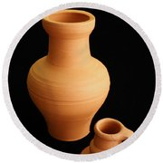 Small Pottery Items Round Beach Towel