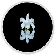 Small Reflection Round Beach Towel