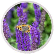 Small Tortoiseshell Round Beach Towel
