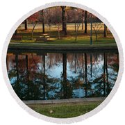 Small Urban Park Round Beach Towel