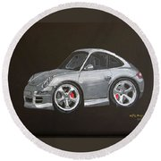 Smart Porsche Round Beach Towel