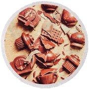 Smashing Chocolate Fondue Party Round Beach Towel