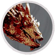 Smaug The Unassessably Wealthy Round Beach Towel