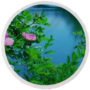 Smell The Roses Round Beach Towel