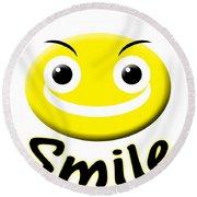 Smile T-shirt Round Beach Towel