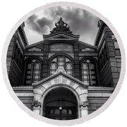 Smithsonian Arts And Industries Building Round Beach Towel