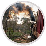 Smoke And Fire Round Beach Towel