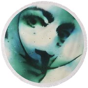 Smoke Bomb Dali 1 Round Beach Towel