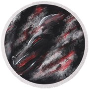 Smoke Dragon Round Beach Towel