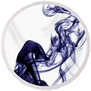 Smoke Photography - Blue Round Beach Towel